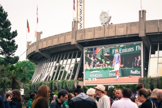 Roland Garros 2016: the village's screen