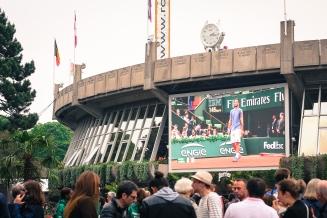 Roland Garros 2016: the village's screen