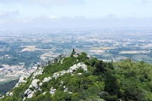 View to the Moors Castle (Castelo dos Mouros) from the Pena Palace