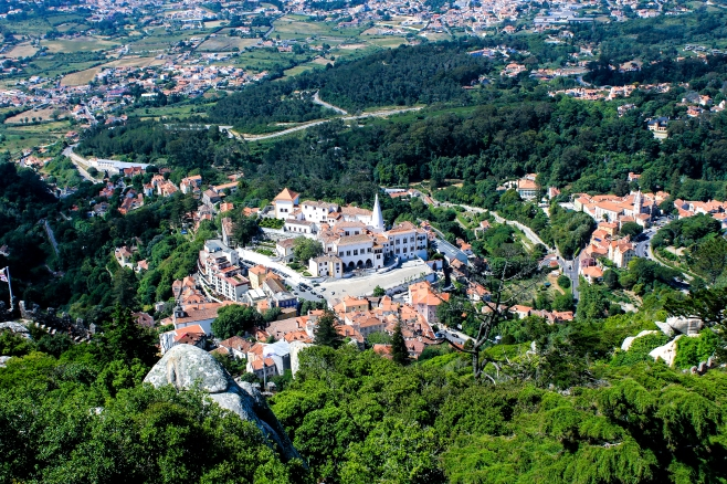 View on Palacio National Sintra