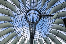 Potsdammer Platz: sky, positive energy and dreams