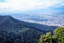 View on Rio from Christ the Redeemer: you can see the Maracana stadium