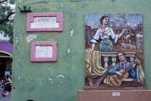 Walls of Caminito, La Boca barrio of Buenos Aires