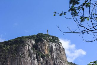 View on Christ the Redeemer from Parque Lage