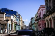 Driving down El Prado: Havana, Cuba
